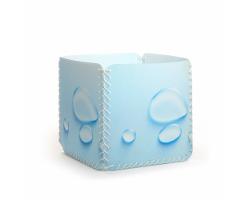 Aufbewahrungsbox - Wassertropfen hellblau