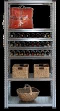 Foto: Super1 Weinregal mit drei Weinfachböden