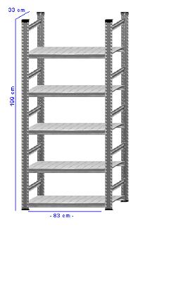 Details / Artikel konfigurieren - Aktenregal Super 1 - A200-33-11