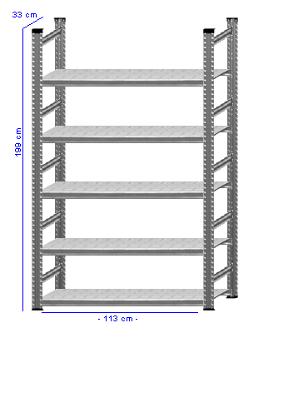 Details / Artikel konfigurieren - Aktenregal Super 1 - A200-33-12