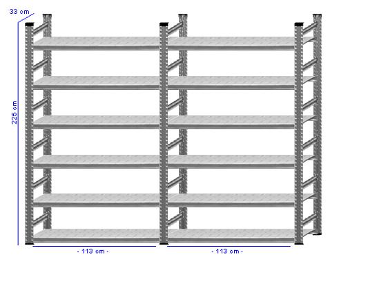 Details / Artikel konfigurieren - Aktenregal Super 1 - A225-33-23
