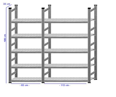 Details / Artikel konfigurieren - Aktenregal Super 1 - A200-33-22