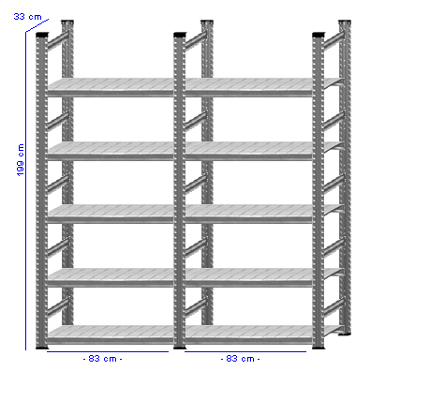 Details / Artikel konfigurieren - Aktenregal Super 1 - A200-33-21