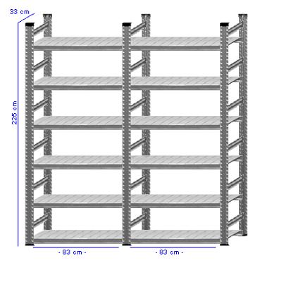 Details / Artikel konfigurieren - Aktenregal Super 1 - A225-33-21