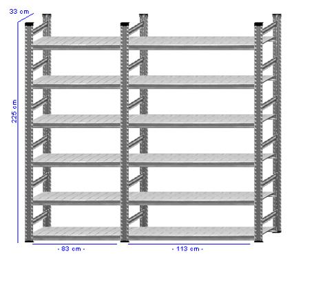 Details / Artikel konfigurieren - Aktenregal Super 1 - A225-33-22