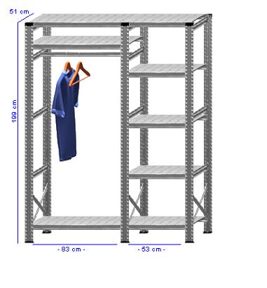 Details / Artikel konfigurieren - Begehbarer Schrank Super 1 - T200-51-21