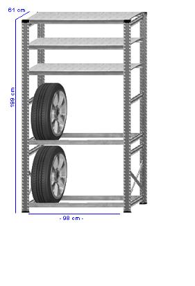 Details / Artikel konfigurieren - Reifenregal Super 1 - G200-61-12