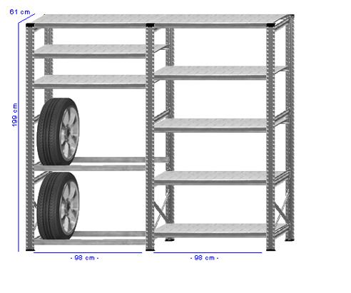 Details / Artikel konfigurieren - Reifenregal Super 1 - G200-61-21
