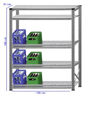 Details / Artikel konfigurieren - Getränkekistenregal Super 1 - GKR200-51-19