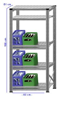Details / Artikel konfigurieren - Getränkekistenregal Super 1 - GKR200-51-13