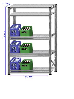 Details / Artikel konfigurieren - Getränkekistenregal Super 1 - GKR200-51-16