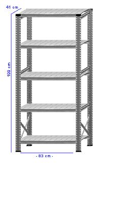 Details / Artikel konfigurieren - Kellerregal Super 1 - K200-41-11
