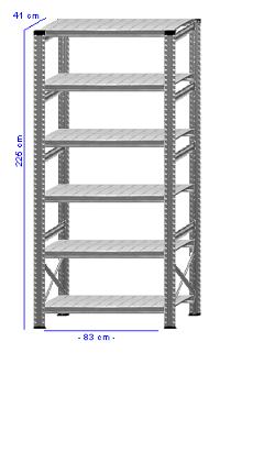Details / Artikel konfigurieren - Kellerregal Super 1 - K225-41-11
