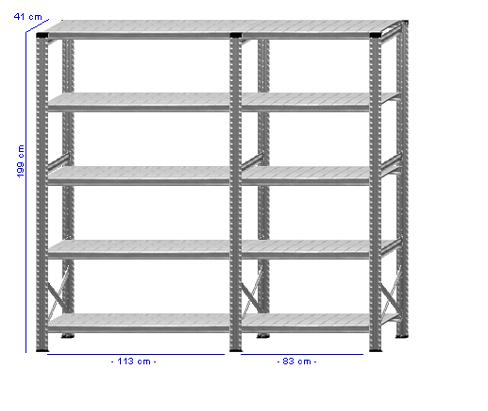Details / Artikel konfigurieren - Kellerregal Super 1 - K200-41-21