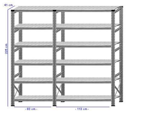 Details / Artikel konfigurieren - Kellerregal Super 1 - K225-41-21