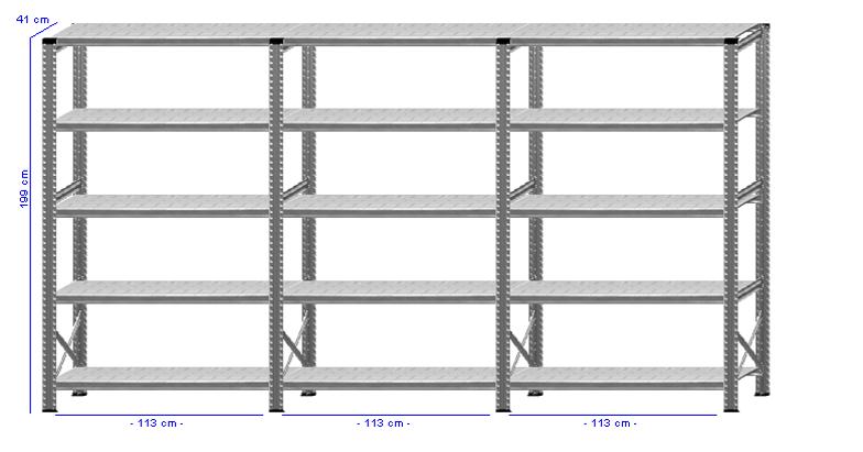 Details / Artikel konfigurieren - Kellerregal Super 1 - K200-41-31