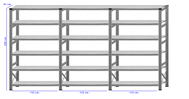 Details / Artikel konfigurieren - Kellerregal Super 1 - K225-41-31