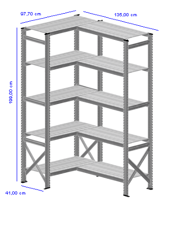 Details / Artikel konfigurieren - Kellerregal Super 1 - K200-41-22