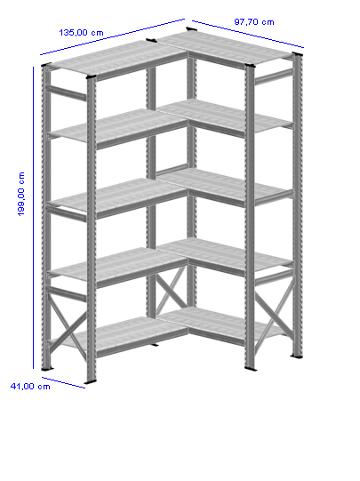 Details / Artikel konfigurieren - Kellerregal Super 1 - K200-41-23