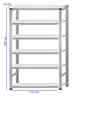 Details / Artikel konfigurieren - Aktenregal Super 1 - A225-33-12