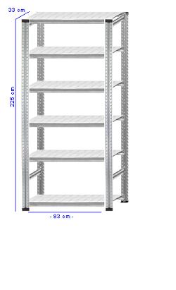 Details / Artikel konfigurieren - Aktenregal Super 1 - A225-33-11