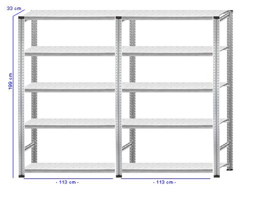 Details / Artikel konfigurieren - Aktenregal Super 1 - A200-33-23