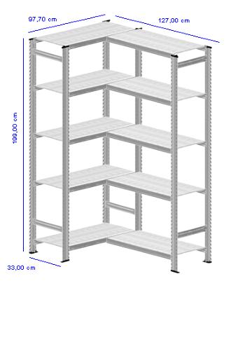 Details / Artikel konfigurieren - Aktenregal Super 1 - A200-33-24