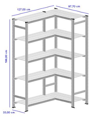 Details / Artikel konfigurieren - Aktenregal Super 1 - A200-33-25