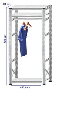 Details / Artikel konfigurieren - Begehbarer Schrank Super 1 - T200-61-11