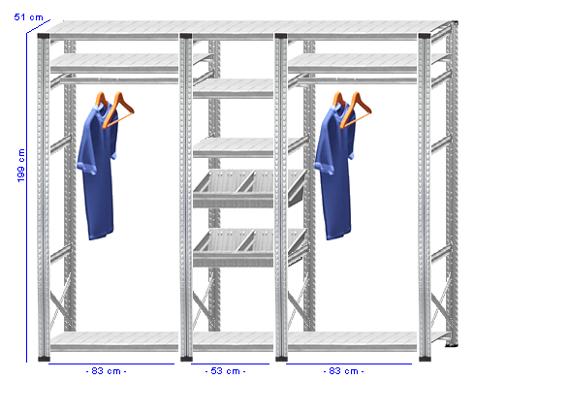 Details / Artikel konfigurieren - Begehbarer Schrank Super 1 - T200-51-32