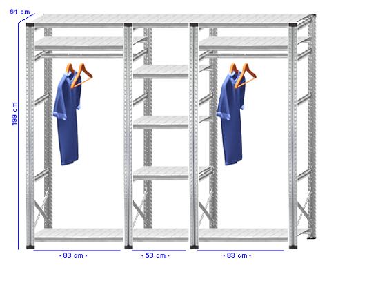 Details / Artikel konfigurieren - Begehbarer Schrank Super 1 - T200-61-31