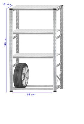 Details / Artikel konfigurieren - Reifenregal Super 1 - G200-61-11
