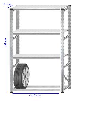 Details / Artikel konfigurieren - Reifenregal Super 1 - G200-61-13