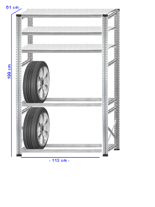 Details / Artikel konfigurieren - Reifenregal Super 1 - G200-61-14