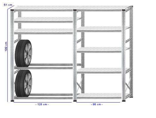 Details / Artikel konfigurieren - Reifenregal Super 1 - G200-61-22