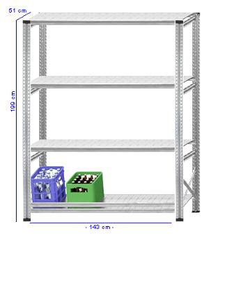 Details / Artikel konfigurieren - Getränkekistenregal Super 1 - GKR200-51-17