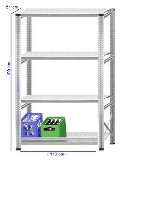 Details / Artikel konfigurieren - Getränkekistenregal Super 1 - GKR200-51-14