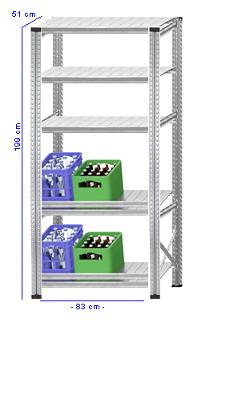 Details / Artikel konfigurieren - Getränkekistenregal Super 1 - GKR200-51-12