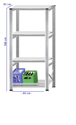 Details / Artikel konfigurieren - Getränkekistenregal Super 1 - GKR200-51-11