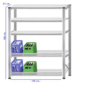 Details / Artikel konfigurieren - Getränkekistenregal Super 1 - GKR200-51-18