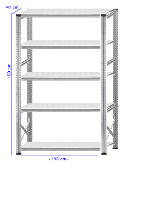 Details / Artikel konfigurieren - Kellerregal Super 1 - K200-41-12