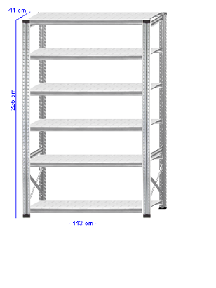 Details / Artikel konfigurieren - Kellerregal Super 1 - K225-41-12