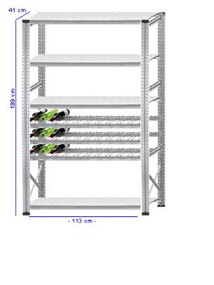 Details / Artikel konfigurieren - Weinregal Super 1 - WR200-41-12