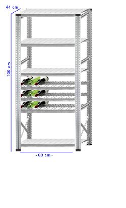 Details / Artikel konfigurieren - Weinregal Super 1 - WR200-41-11