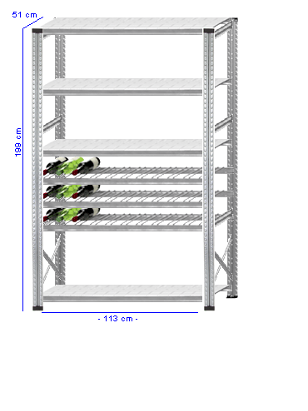 Details / Artikel konfigurieren - Weinregal Super 1 - WR200-51-12