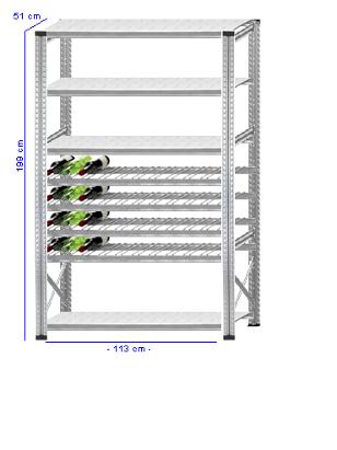 Details / Artikel konfigurieren - Weinregal Super 1 - WR200-51-14