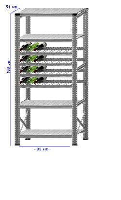 Details / Artikel konfigurieren - Weinregal Super 1 - WR200-51-13