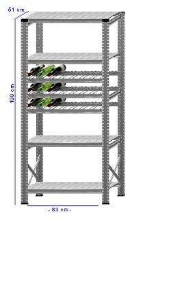 Details / Artikel konfigurieren - Weinregal Super 1 - WR200-51-11